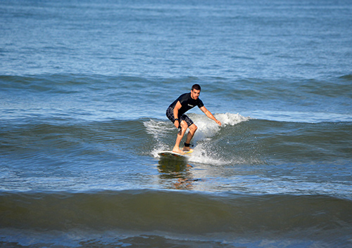 Surfing at Dominicalito