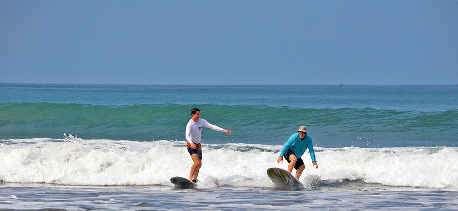 Surfers in Beginner Surf Lesson in Costa Rica