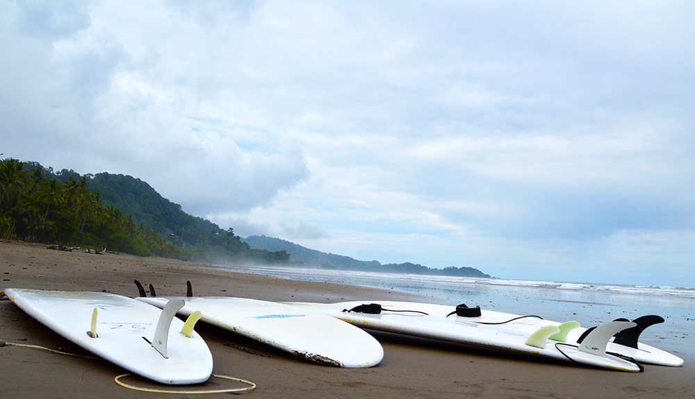 Used Surfboard on Playa Dominical Costa Rica